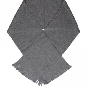 C-Albas Wool Plain Dark Grey Scarf