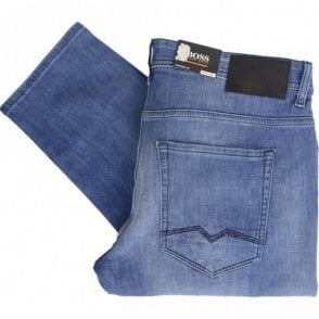 50382041 Orange90 Tappered Fit Mid Wash Denim Jeans