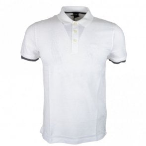 Phillipson 38 Slim Fit Pima Cotton White Polo