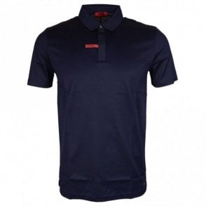 Dajm Slim Fit Mercerised Cotton Navy Polo