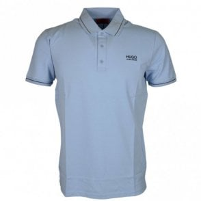 Daruso Regular Fit Cotton Sky Blue Polo