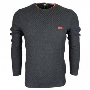 Ridney Cotton Blend Regular Fit Dark Grey Jumper