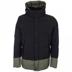 Black/Olive Padded Hood Jacket