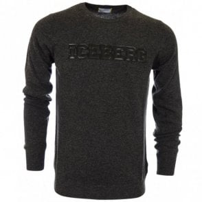 Embossed Knitted Dark Grey Jumper