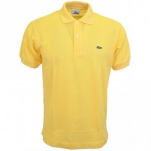 L1212 Plain Regular Fit Yellow Polo