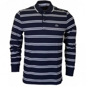 PH2151 Long Sleeve Stripe Navy Polo