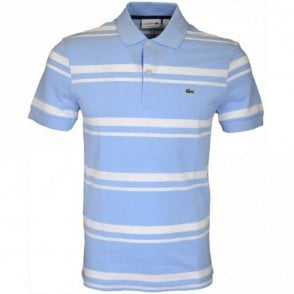 PH5021 Regular Fit Stripe Sky Blue Polo