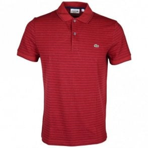 PH9099 Regular Fit Passion Red Stripe Polo