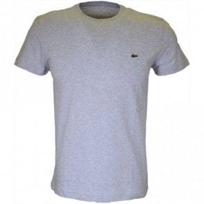 Thin Plain Round Neck Grey T-Shirt