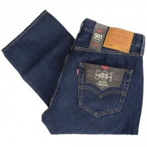 501 Original Dark Wash Straight Fit Jeans