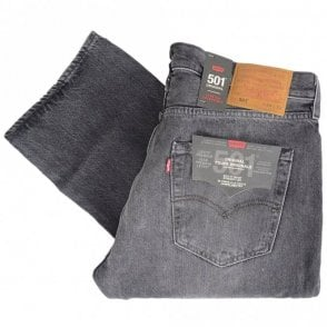 501 Original Grey Straight Fit Jeans