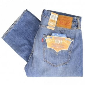 501 Original Mid Wash Straight Fit Jeans