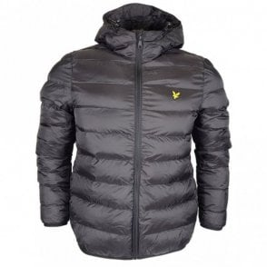 Lightweight Puffer Nylon Black Jacket