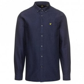 LW614V Plain Oxford Navy Shirt