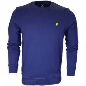 ML424V Plain Round Neck Navy Sweatshirt