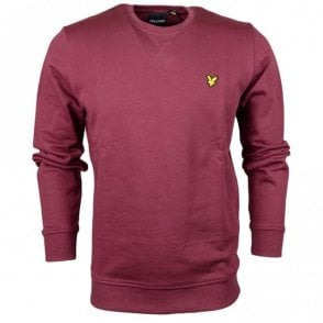 ML424VB Plain Round Neck Burgundy Sweatshirt