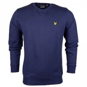 ML424VB Plain Round Neck Navy Sweatshirt