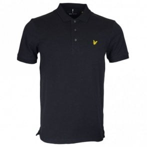 SP400VB Short Sleeve Plain Pique Black Polo