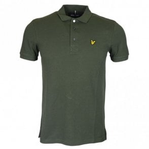 SP400VTR Short Sleeve Plain Pique Leaf Green Polo