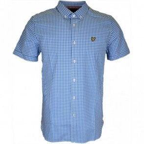 SW401V Gingham Regular Fit Deep Cobalt Shirt