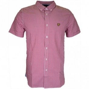 SW401V Gingham Regular Fit Ruby Shirt