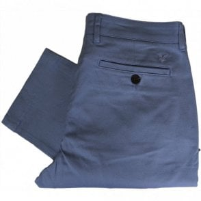 TR405V Slim Fit Cotton Dusk Blue Chino