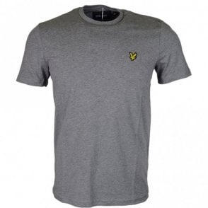 TS400V Round Neck Short Sleeve Grey Marl T-Shirt