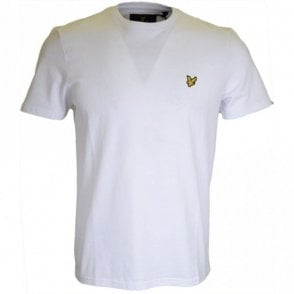 TS400V Round Neck Short Sleeve White T-Shirt