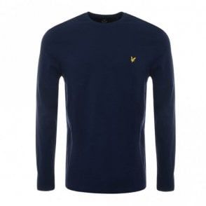 TS512V Round Neck Long Sleeve Navy T-Shirt
