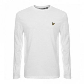 TS512V Round Neck Long Sleeve White T-Shirt