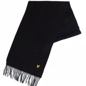 V311A Lambswool Black Scarf