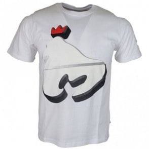 Ape Pill Printed Logo White T-Shirt