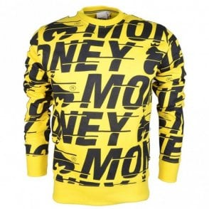 Big Speed Round Neck Yellow Sweatshirt