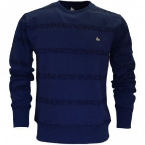 Repeat Arrow Round Neck Navy Sweatshirt