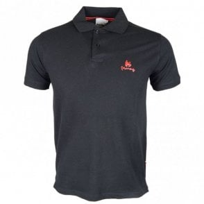 Sig Ape Rubberised Logo Black Polo Shirt