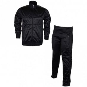 Vintage Zip Up Funnel Neck Black Tracksuit
