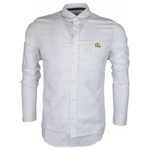 Slim Fit Stretch White Shirt