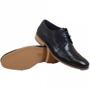 Limehouse Leather Lace Up Black Shoes