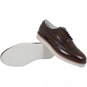 Taunley Leather Lace Up Brown Shoes