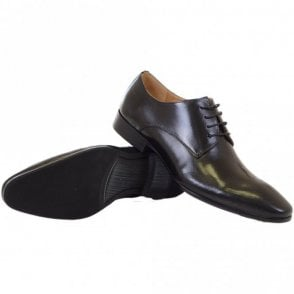 Wolvey Leather Lace Up Black Shoes