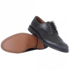 Newent Black Leather Shoe