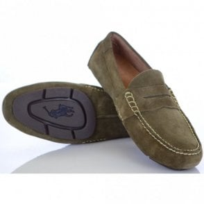 Telly Loafer in Swamp Suede
