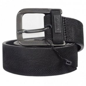 AM2499 Black Leather Belt