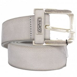 AM2499 Grey Leather Belt