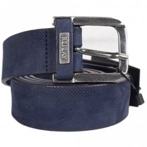 AM2499 Navy Leather Belt