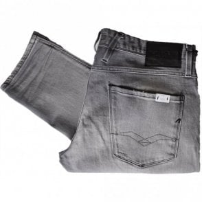Anbass Stretch Faded Grey Slim Jeans