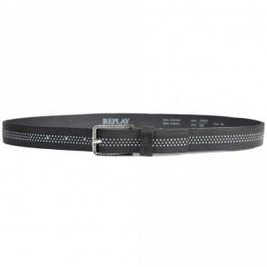AX2213 Black Leather Belt
