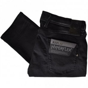 Hyperflex Anbass Stretch Faded Black Jeans