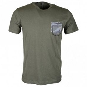 M3327 Slim Fit Round Neck Green T-Shirt