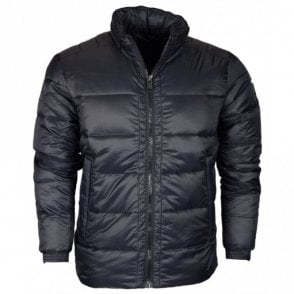 M8860 Quilted High Neck Black Jacket